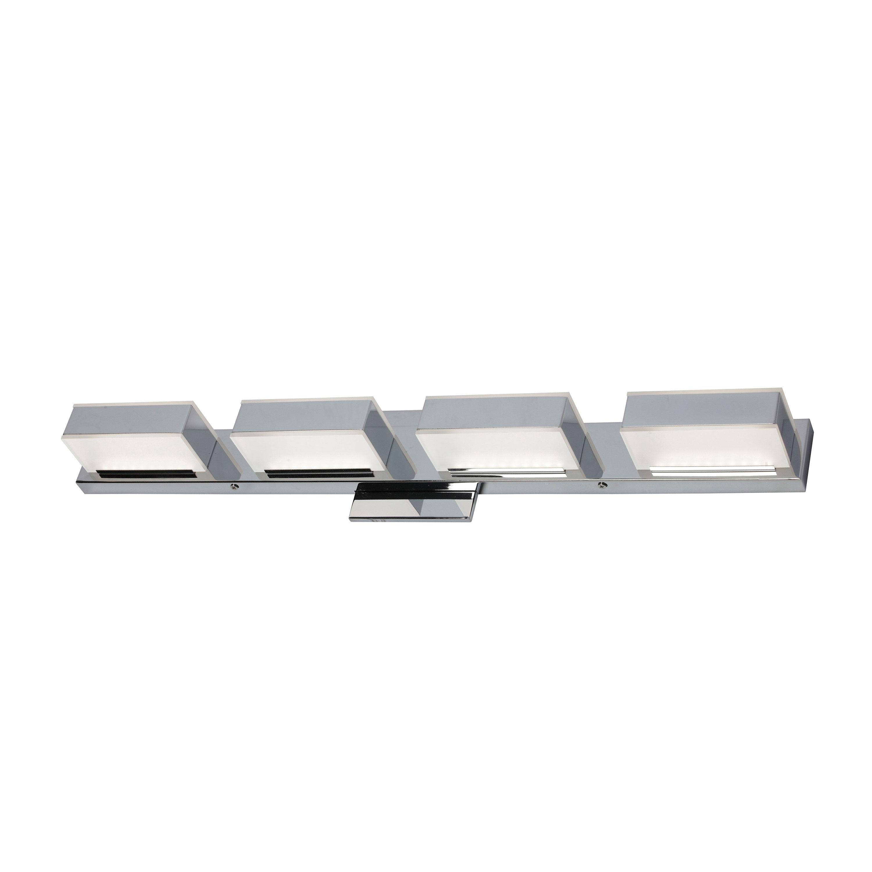 4 Light LED Wall Vanity, Polished Chrome Finish