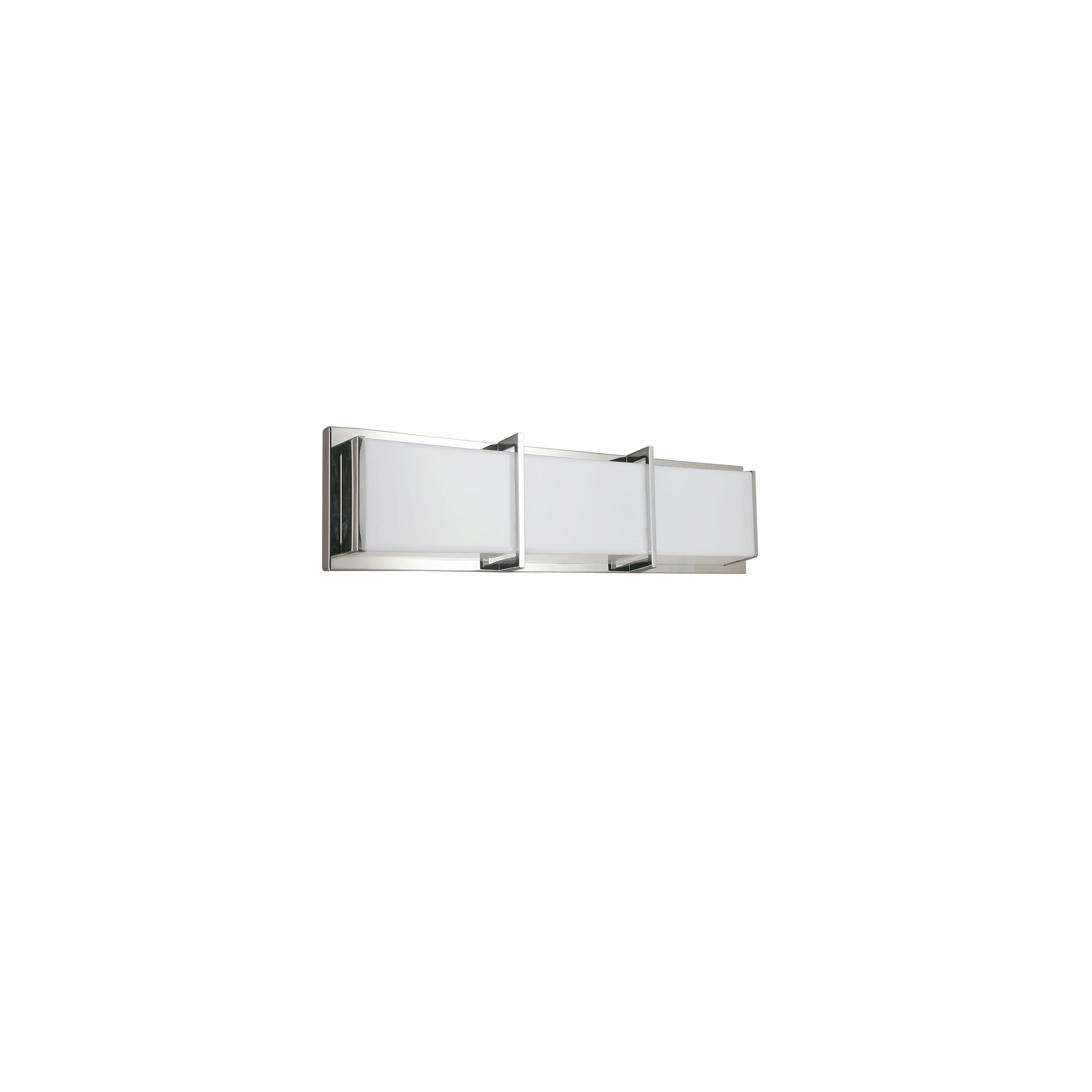 15W Polished Chrome Vanity Light w/ White Acrylic Diffuser