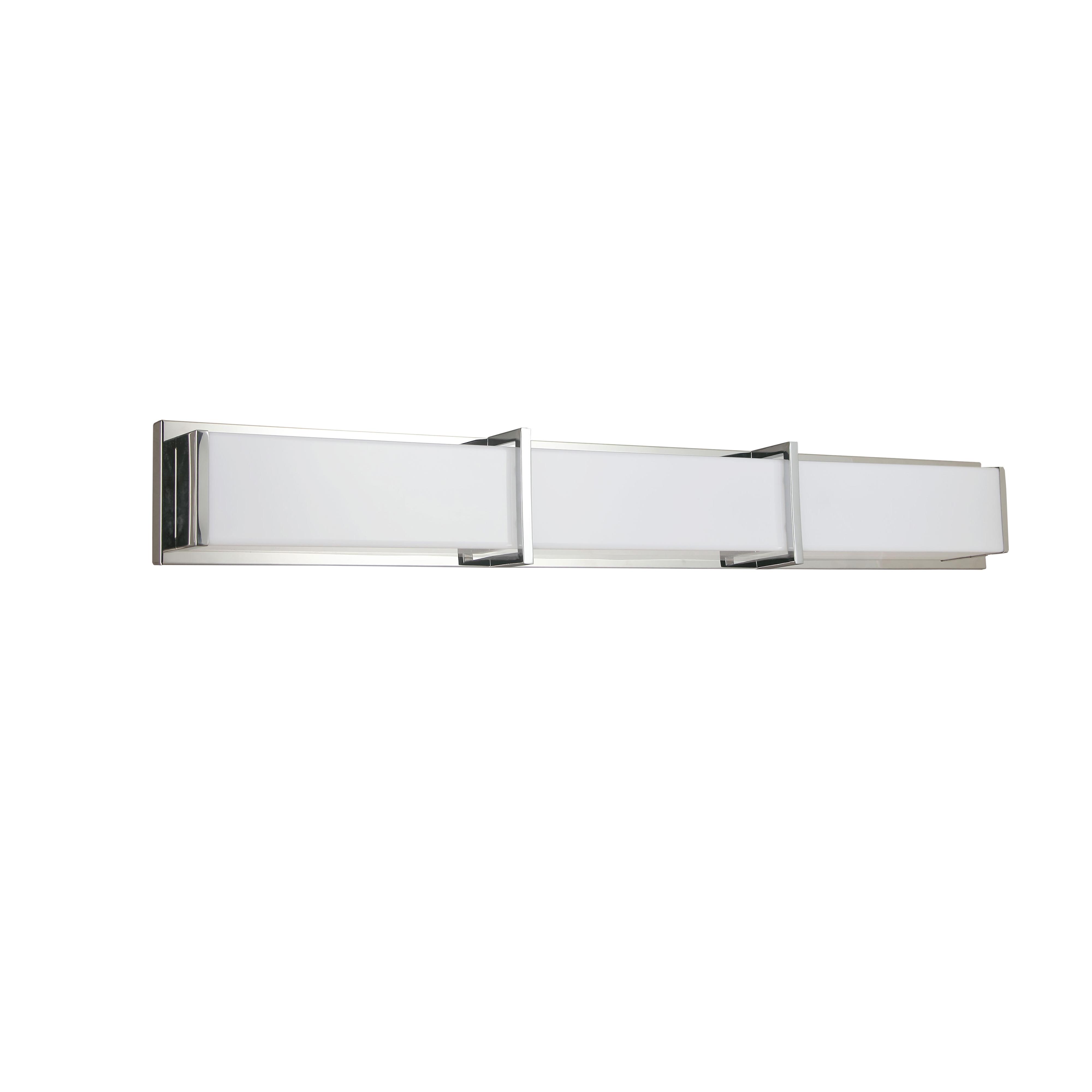 50W Polished Chrome Vanity Light w/ White Acrylic Diffuser