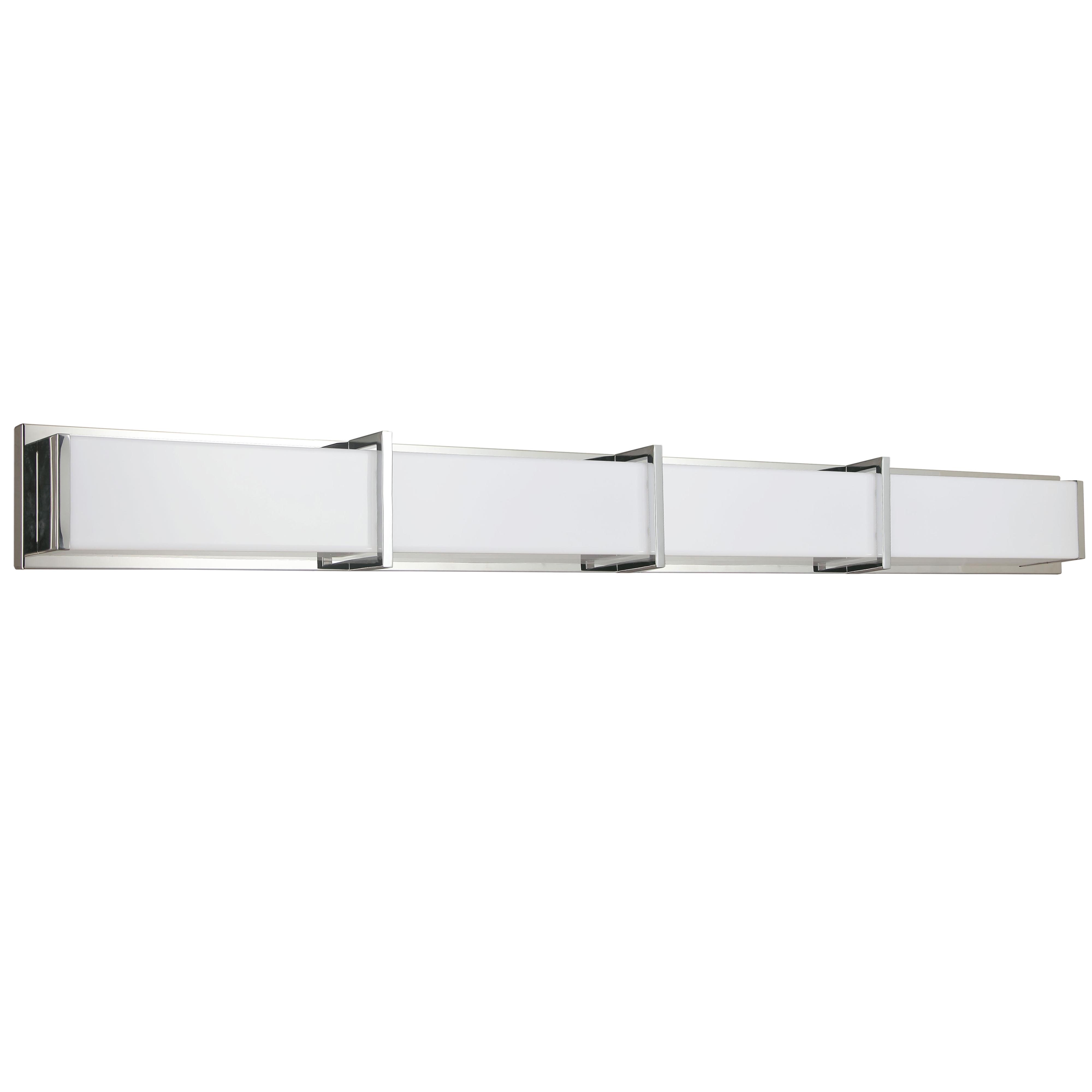 72W Polished Chrome Vanity Light w/ White Acrylic Diffuser