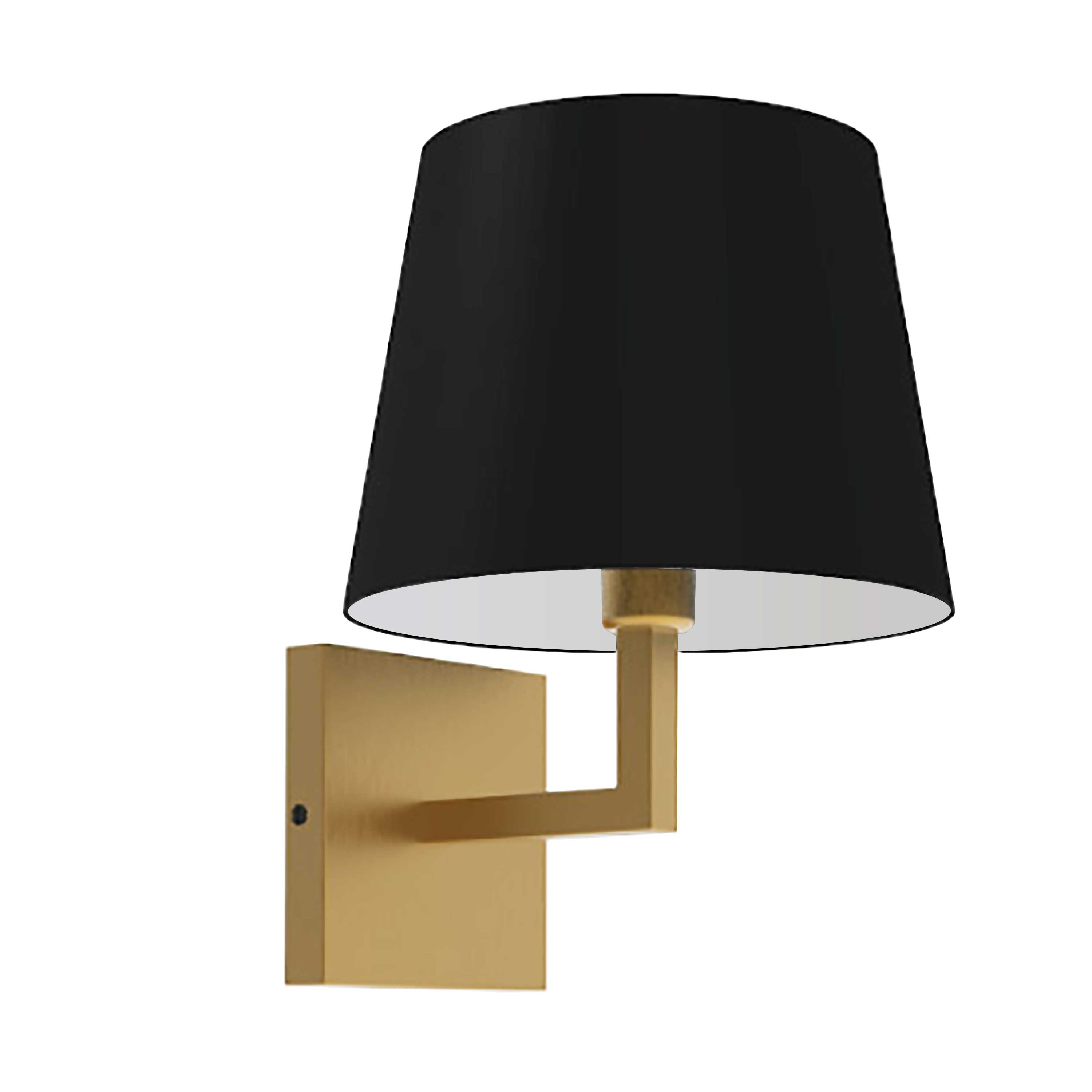 1LT Incandescent Wall Sconce,  AGB w/ Black Shade
