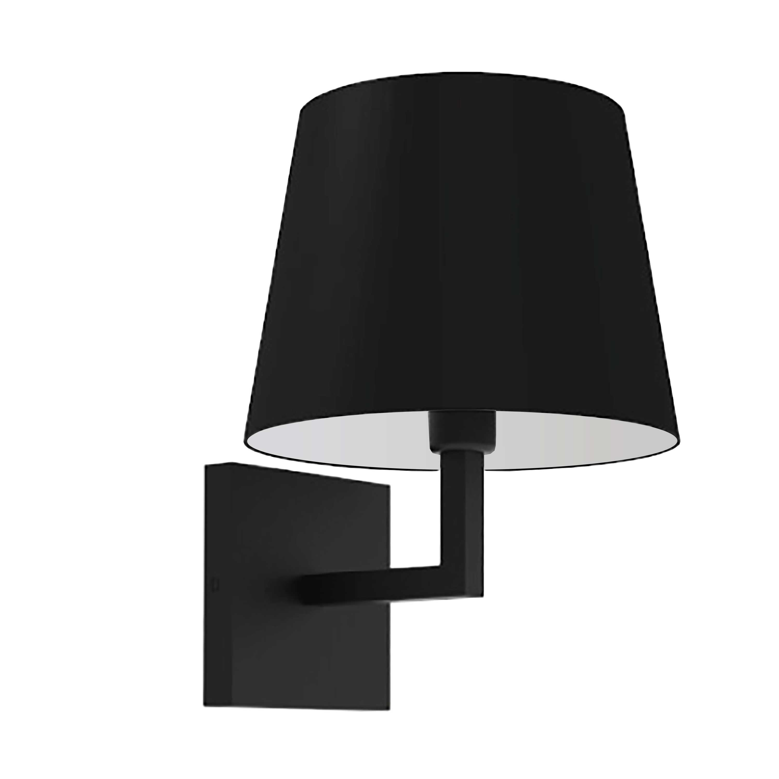 1LT Incandescent Wall Sconce,  MB w/ Black Shade
