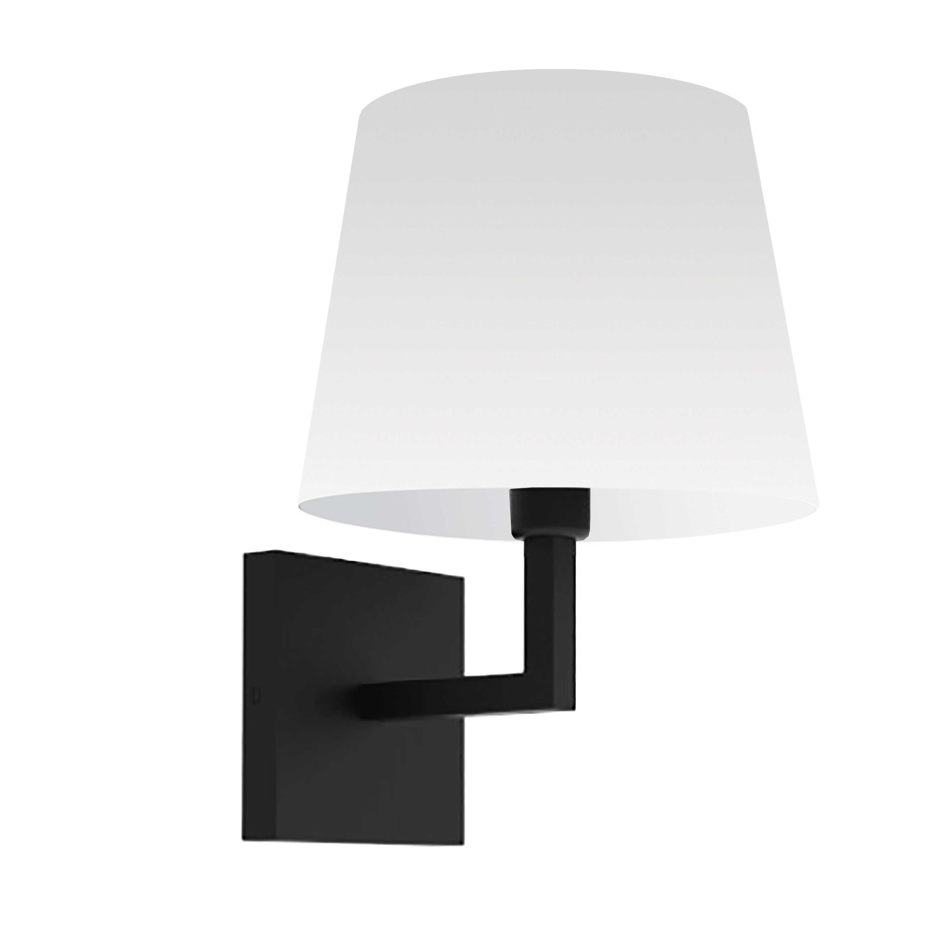 1LT Incandescent Wall Sconce,  MB w/ White Shade